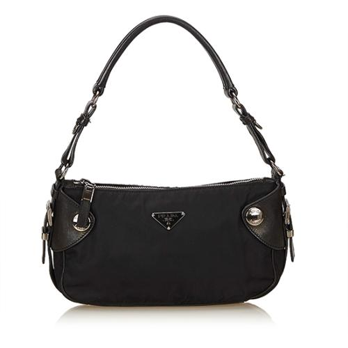 Prada Tessuto Leather Buffalo Snap Shoulder Bag