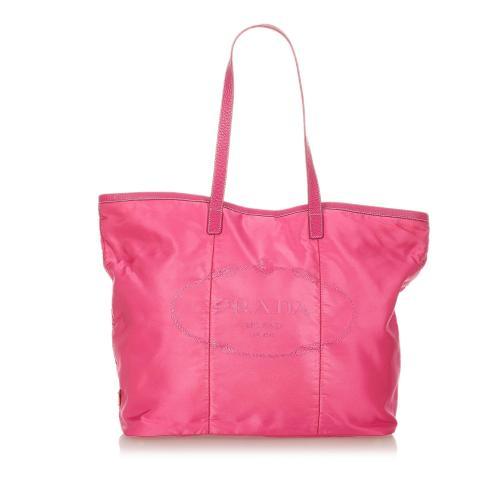 Prada Tessuto Canapa Tote Bag
