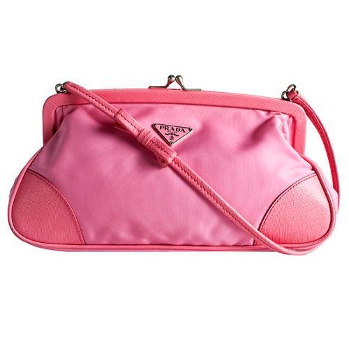 Prada Tessuto Daino Small Shoulder Handbag