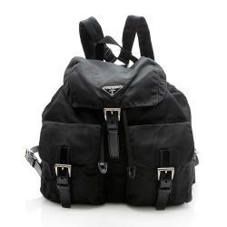 Prada Tessuto Double Pocket Small Backpack