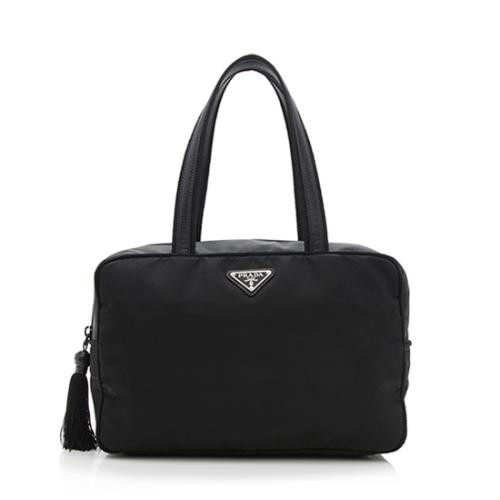 Prada Tessuto Leather Satchel