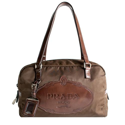 Prada Tessuto Logo Satchel Handbag