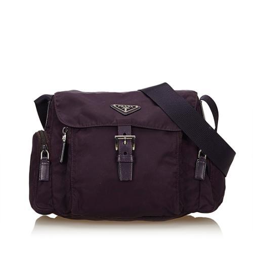 Prada Tessuto Buckle Messenger Bag
