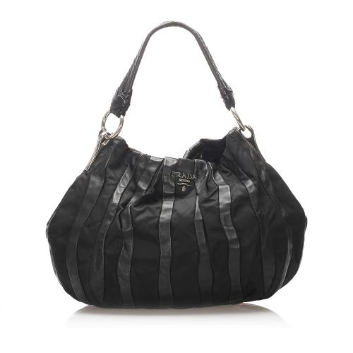 Prada Tessuto Nappa Waves Hobo Bag