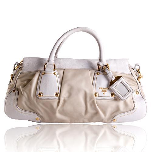 Prada Tessuto Pleated Handbag