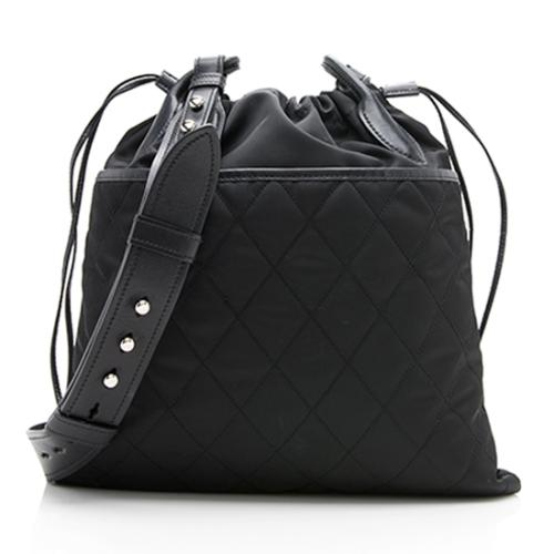 Prada Tessuto Quilted Pocket Drawstring Messenger Bag