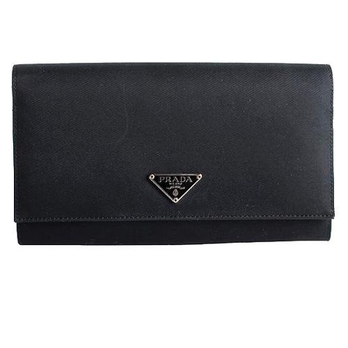 Prada Tessuto Saffiano Continental Wallet