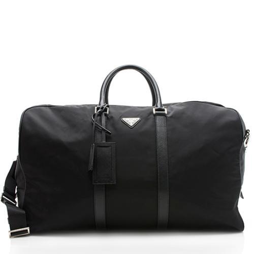 Prada Tessuto Saffiano Leather Duffel Bag