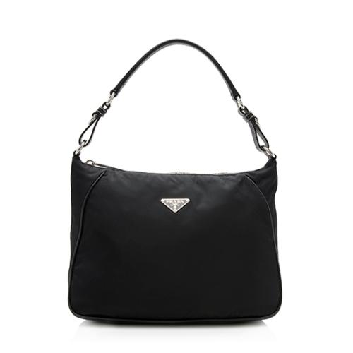 Prada Tessuto Saffiano Leather Shoulder Bag
