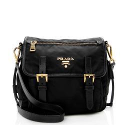 Prada Tessuto Saffiano Messenger Bag