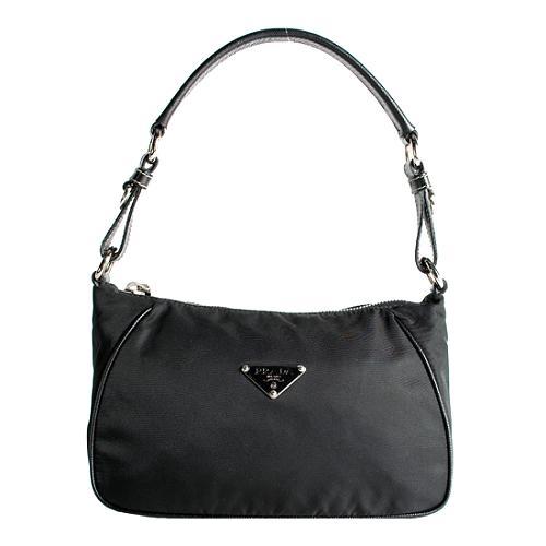 Prada Tessuto Saffiano Shoulder Handbag