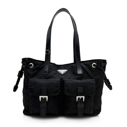 Prada Tessuto Shopper Small Tote