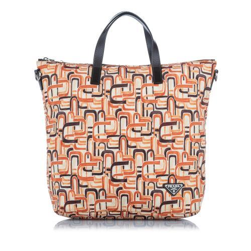 Prada Tessuto Stampato Tote Bag
