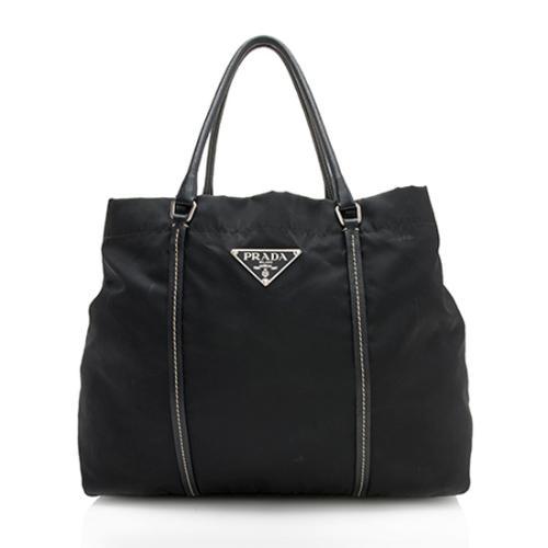 Prada Tessuto Vitello Weekender Bag