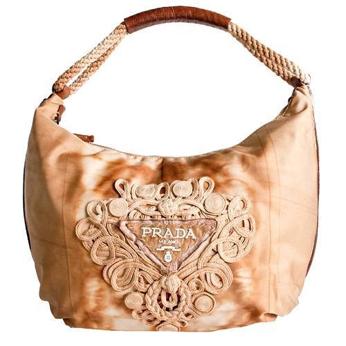 Prada Tie-Dye Hobo Handbag