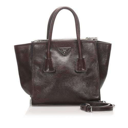 Prada Twin Pocket Leather Satchel