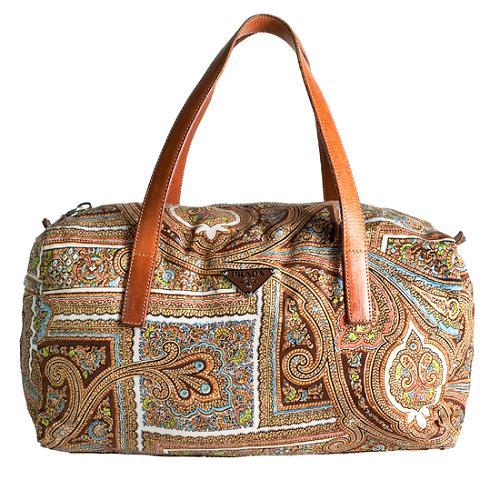 Prada Vela Paisley Satchel Handbag