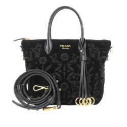 Prada Embroidered Velluto Impuntu Satchel