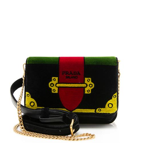 Prada Velvet Cahier Belt Bag