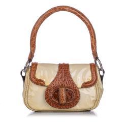 Prada Vernice Cocco Pattina Sottospalla Shoulder Bag