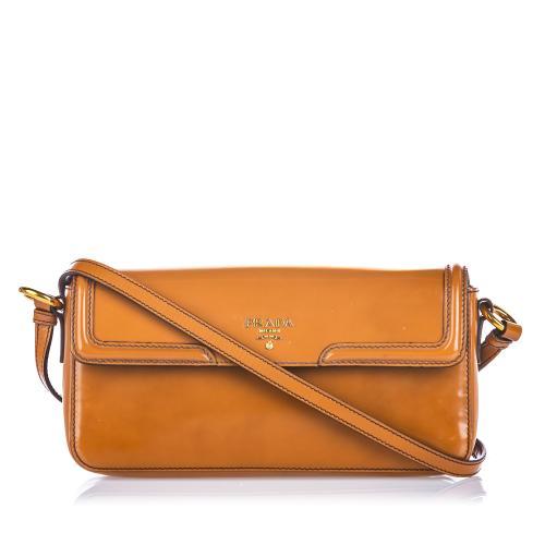 Prada Patent Leather Vernice Crossbody Bag