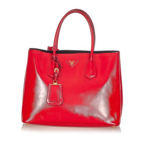 Prada Vernice Leather Satchel
