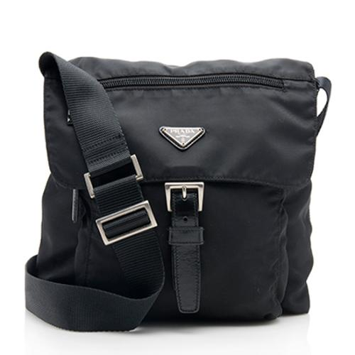 Prada Vintage Tessuto Buckle Messenger Bag