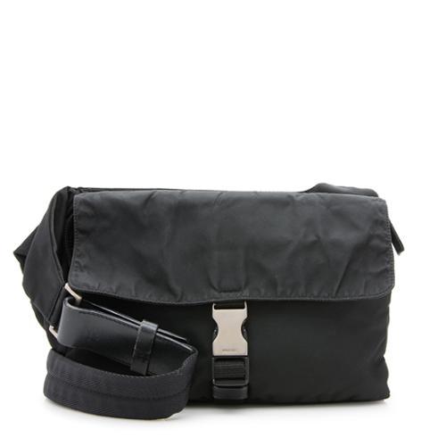 Prada Vintage Tessuto Buckle Shoulder Bag