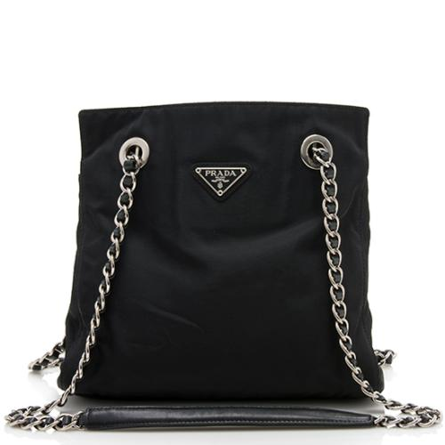 Prada Vintage Tessuto Chain Shoulder Bag