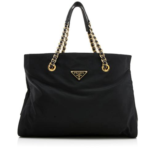 Prada Vintage Tessuto Chain Shoulder Bag