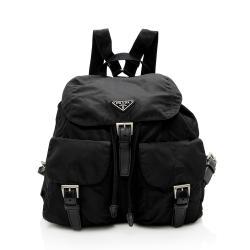 Prada Vintage Tessuto Double Pocket Medium Backpack