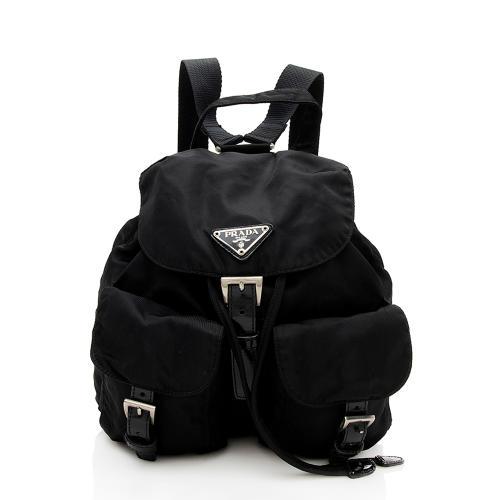 Prada Vintage Tessuto Double Pocket Small Backpack