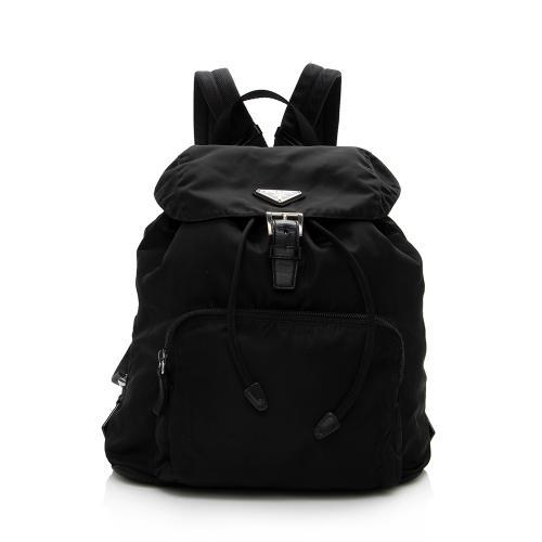 Prada Vintage Tessuto Drawstring Backpack