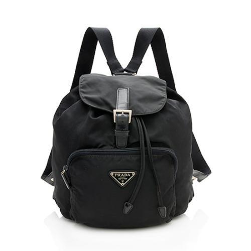 Prada Vintage Tessuto Front Pocket Backpack