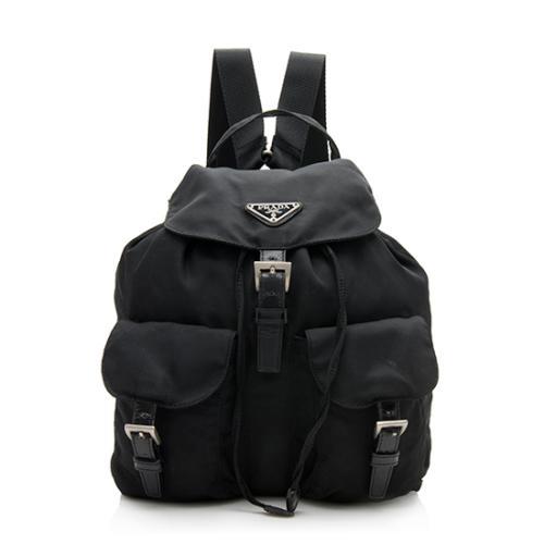 Prada Vintage Tessuto Front Double Pocket Backpack
