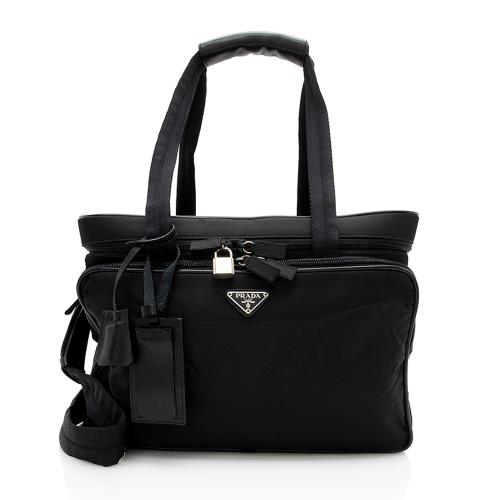Prada Vintage Tessuto Travel Zip Around Tote