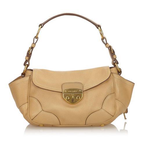 Prada Vitello Daino Baguette Shoulder Bag