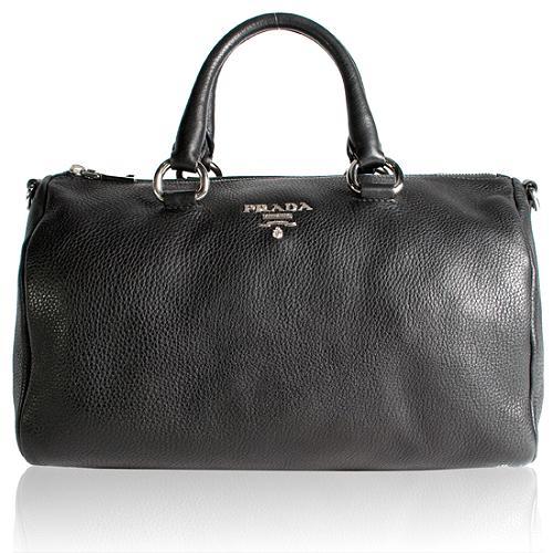 Prada Vitello Daino Bauletto Satchel Handbag