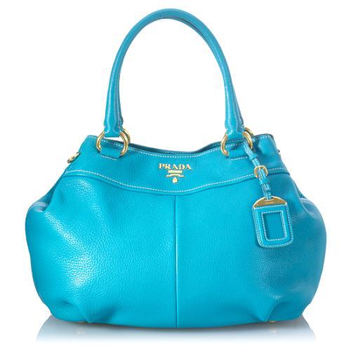 Prada Vitello Daino Expandable Shoulder Handbag