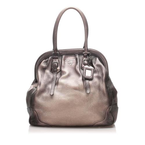 Prada Vitello Daino Frame Shoulder Bag
