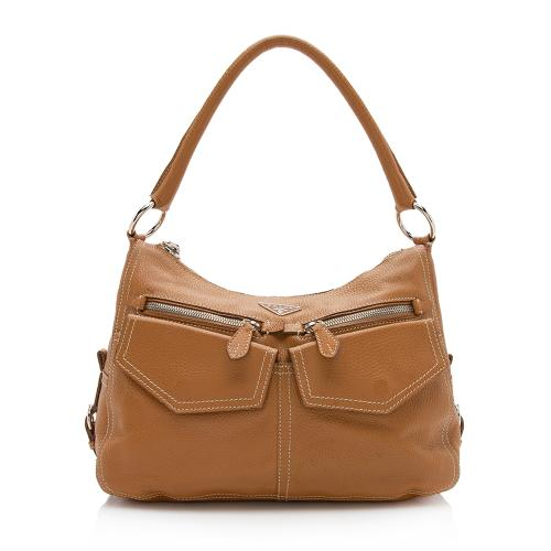 Prada Vitello Daino Front Pocket Hobo