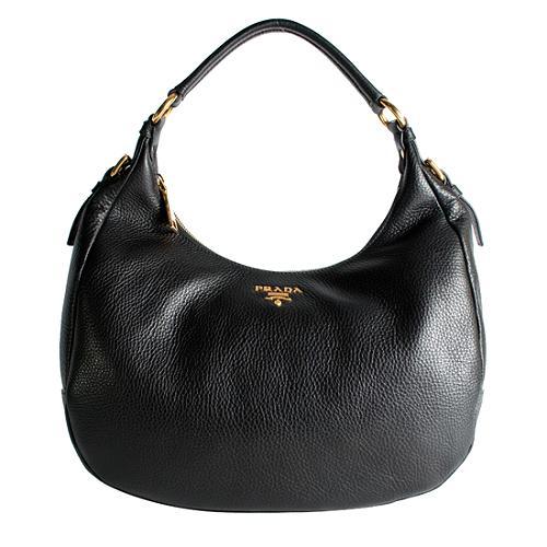 Prada Vitello Daino Hobo Handbag