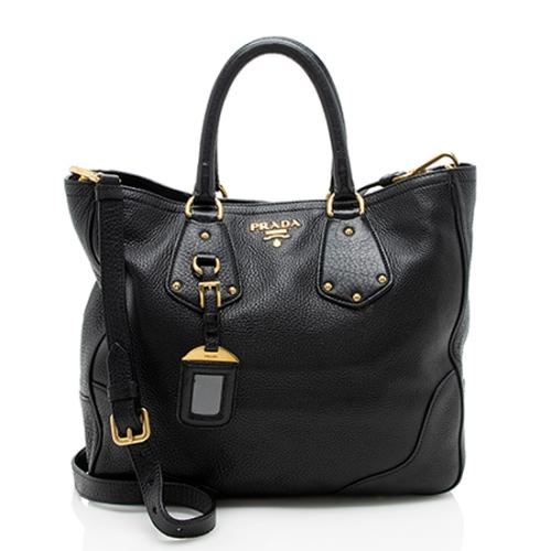 Prada Vitello Daino Shopping Tote