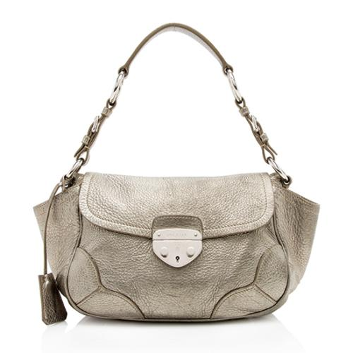 Prada Vitello Daino Leather Pushlock Shoulder Bag - FINAL SALE