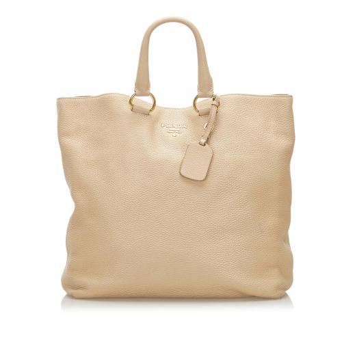 Prada Vitello Daino Tote Bag