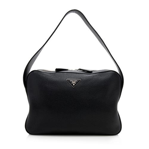 Prada Vitello Daino Zip Shoulder Bag