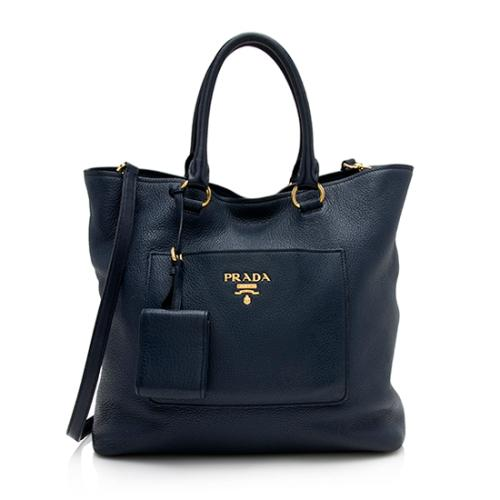 Prada Vitello Diano North/South Tote