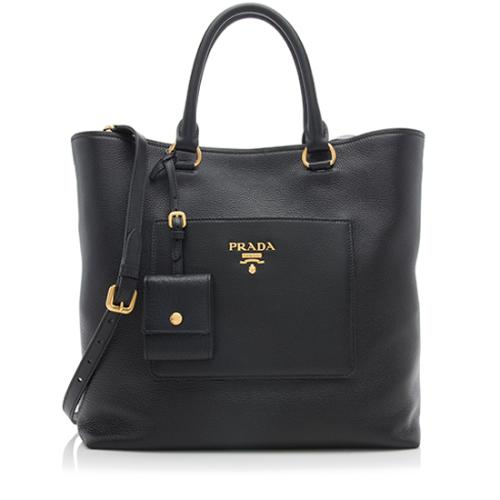 Prada Vitello Diano Leather North/South Tote