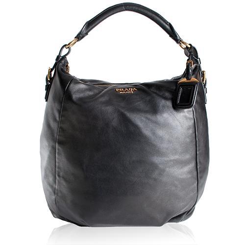 Prada Vitello Hobo Handbag