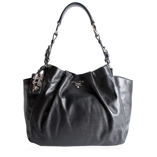 Prada Vitello Pocket Hobo Handbag